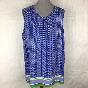 Violet & Claire Blue Sleeveless Blouse